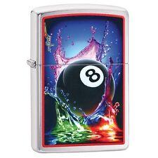 Zippo 29295, Mazzi-Billiards-8 Ball, Brushed Chrome Finish Lighter, Full Size