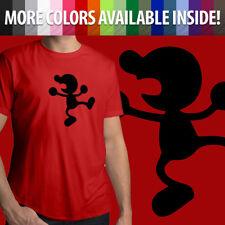 Nintendo Mr Game & Watch Super Smash Bros Melee Brawl SSB Mens Tee T-Shirt