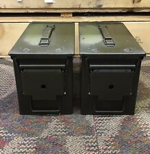 50 CAL US ARMY TWO PACK Ammo Can USGI Field Issue GREAT CONDITION (x2)