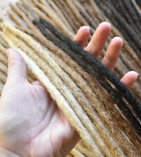 Dreadlock Extensions HUMAN HAIR x10, 40cm length, Thin (5-6mm wide)