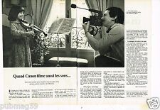 Publicité advertising 1977 (2 pages) La Caméra Canon 514 XLS