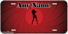 Bond Gun Girl Any Name Personalized Aluminum Car Novelty License Plate