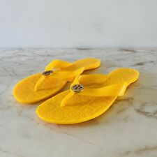 TORY BURCH Solid Yellow Jelly Thong Sandal - US 7