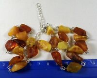 Raw Baltic Amber stone necklace natural 17 gram unpolished rough genuine 1396
