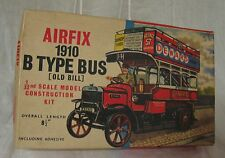 Vintage Airfix 1910 B Type Bus, Old Bill, Passengers, 1:32 Scale Series 4, Box