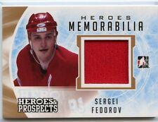 16/17 HEROES & PROSPECTS HEROES MEMORABILIA JERSEY SERGEI FEDOROV WINGS *34886