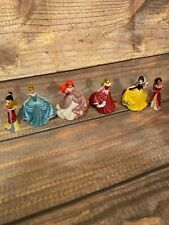 Lot of 6 Disney Store Exclusive Princess PVC Glitter Figures 3 inch