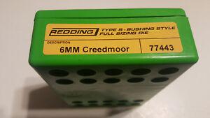 77443 REDDING TYPE-S FULL LENGTH BUSHING SIZING DIE - 6MM CREEDMOOR - BRAND NEW