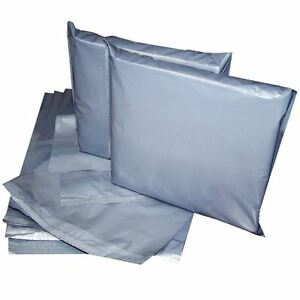 14x19' Strong Grey Mailing Post Poly Postage Bags Self Seal Cheap No Smell CS