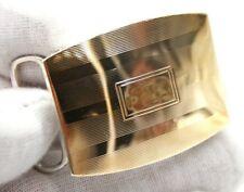 STERLING SILVER & 14K YELLOW GOLD BELT BUCKLE 45MM X 33MM GOOD FOR 25MM BELT