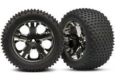 Traxxas Reifen verklebt auf Felge chrome/schwarz #TRX3770A