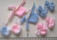 New Baby Card Set Girl / Boy Card Toppers Booties Hats Jumpers