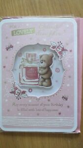 TO A LOVELY GRANDDAUGHTER EXTRA  LARGE  SIZE BIRTHDAY CARD