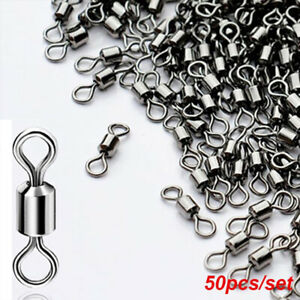 Stainless Steel Barrel Ball Bearing Connector Swivel Solid Ring Fishing Tool