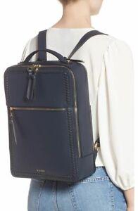 nwt CALPAK Kaya Black Vegan Faux Leather Woven Laptop Backpack Gold Hdwre Travel