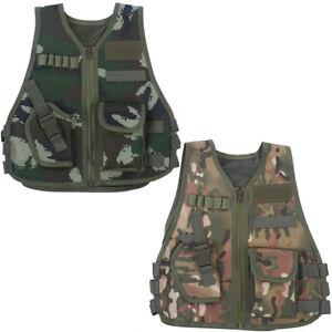Kids Children Military Tactical Vest Multi Pocket Camouflage Combat Waistcoat❤TT