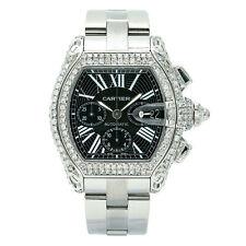 Cartier Roadster 2618 Men's Automatic Watch Stainless Steel Diamond Case 43MM