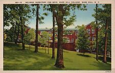 Mars Hill College, Dormitory, North Carolina NC --- Old Vintage Linen Postcard
