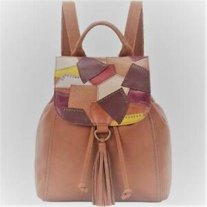 The Sak Women's Patchwork Flap Avalon Convertible Leather Backpack