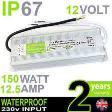 IP67 12V DC 150w 12.5A 230v Waterproof Power Supply for LED Driver Strip CCTV