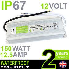 IP67 12V DC 150w 12.5A 230v Waterproof Power Supply for LED Driver Strip CCTV