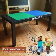 MINECRAFT Builders Bench EXTRA LARGE Activity Table for LEGO & Mega Bloks