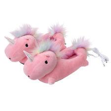 Smoko Unicorn USB Heated Cute Kawaii Chibi Fun Plush Fantasy Adult Slippers-Pink