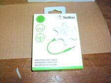 Belkin RockStar 5-Jack Multi Headphone Audio Splitter (Light Green) New FREE S&H