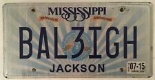 Vanity BALEIGH BAILEIGH license plate Balleigh Bailleigh Industrial Saw Ba Leigh