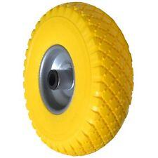 Ruota ruote poliuretanica piena d.25cm per carrello 2 mozzi con rullo 21mm