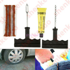 Car Tubeless Tyre Tire Puncture Plug Kit Needle Patch Repair Tools Cement Fine