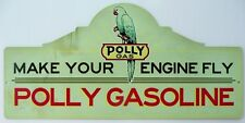 POLLY GAS. MAKE YOUR ENGINE FLY. with an aged look 665mmx320mm all weather sign