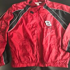 Dale Earnhardt Jr Red Windbreaker M Mens NASCAR Winners Circle Jacket Coat Zip