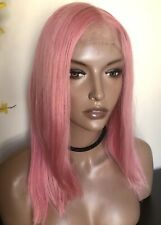 Pink Blend Lace Front Human Hair Wig