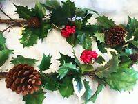 6ft Holly Berry Christmas Garland Table Runner Silk Flowers Wedding Arch Swag