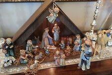 Hummel Goebel 20 piece Christmas Nativity Set w/  Manger, 214 large