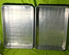 "Commercial Dura-Ware Aluminum 17"" x 25"" Sheet Pan Half Size #1822 Lot of 2"