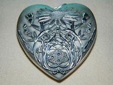NIB Tiffany & Co Ziegfeld Daisy Heart Locket Sterling Silver 4 Pendant Necklace
