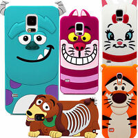 3D Cartoon Character Silicone Rubber Case Cover For Samsung Galaxy Mobile Phones