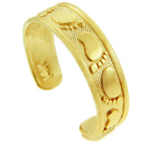 Solid Gold Classy Bigfoot Footprint Design Toe Ring Made in Usa