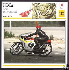 1966 Honda 125cc RC 149 Grand Prix Luigi Taveri Race Motorcycle Photo Spec Card