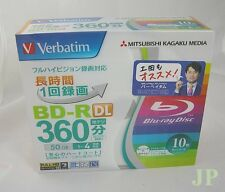 10 Verbatim Blu ray Disc Dual Layer BD-R DL 50GB 4x Inkjet Printable Japan