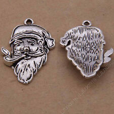 20pc Tibetan Silver Charm Pendant Santa Claus Accessories Jewellery Making B824P