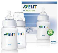 Philips Avent 9oz/260ml Classic Feeding Baby Bottle TWIN Pack SCF683/27