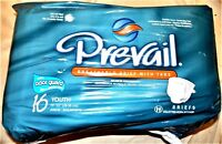 "Prevail 16 Youth 15""-22"" Sized Briefs: Maximum Absorbency 16 count"