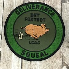 US Navy Military Patch LCAC DET Foxtrot Deliverance Squeal Iron Sew On Patch Pig