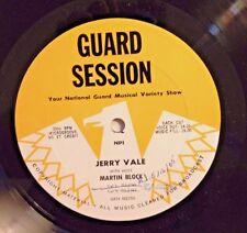 Radio Show: GUARD SESSION #161-164 JERRY VALE TRIBUTE w/HOST MARTIN BLOCK