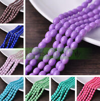 Wholesale 8x6mm Oval Teardrop Opaque Glass Loose Spacer Beads Jewelry Findings