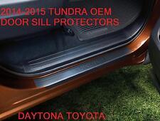 GENUINE TOYOTA OEM 2014-2015 TOYOTA TUNDRA ACCESS CAB DOOR SILL PROTECTORS QTY 4
