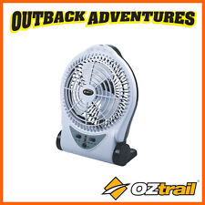 """OZTRAIL 6"""" FAN 240V RECHARGEABLE PORTABLE CAMP CAMPING FAN WITH LED LIGHT"""